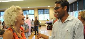 Terry Farish and interpreter Nilhari Bhandari
