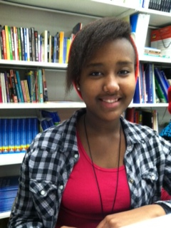 "Megan, 9th grader, Gorham High in Maine, wrote ""College."" She is from Burundi."