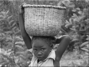 Kenya girl B&W300